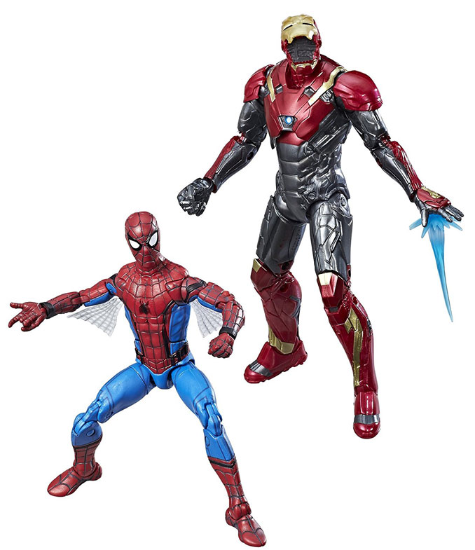 Spider-Man Homecoming Marvel Legends Spider-Man and Iron Man Action Figures