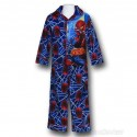 Spider-Man Kids Button-Up Blue Spider Sense Pajamas