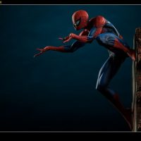 Spider-Man Polystone Statue side-view