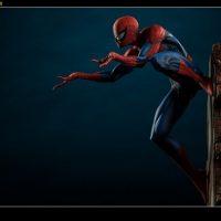 Spider-Man Polystone Statue side-view