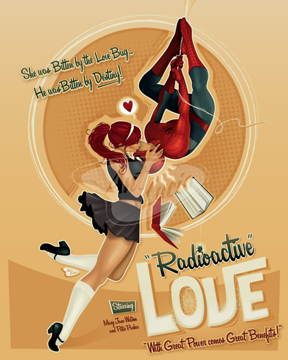 spider-man-radioactive-love-art-print