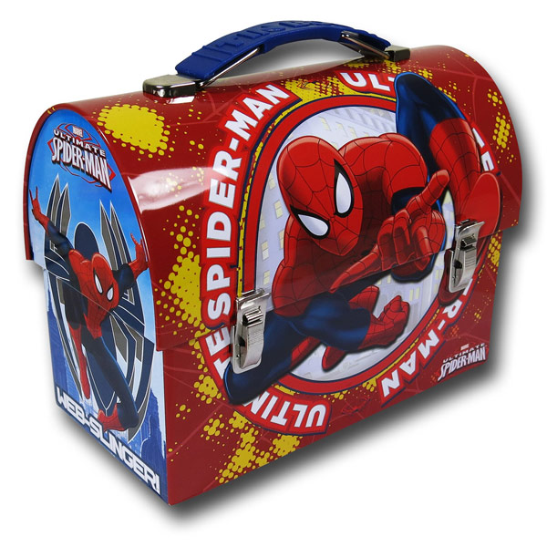 Spider-Man Red Domed Tin Lunch Box