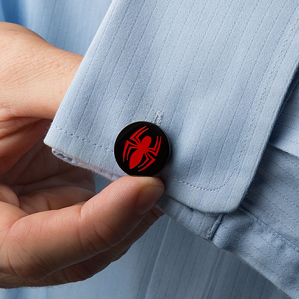 Spider-Man Red Logo Cufflinks