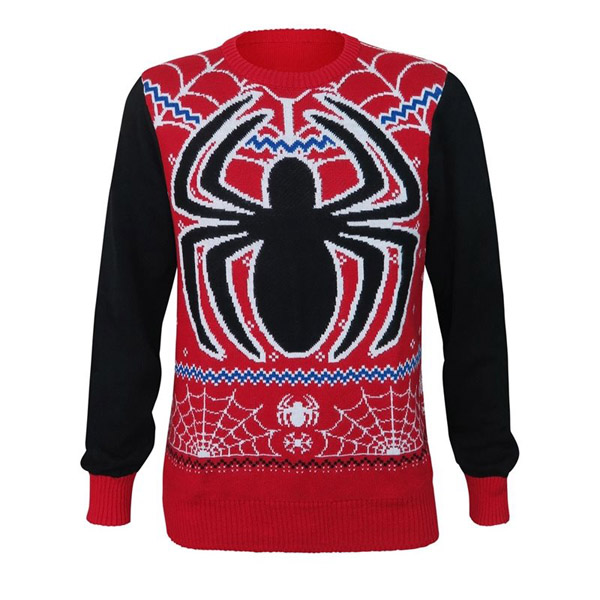 spider-man-snowflakes-ugly-christmas-sweater