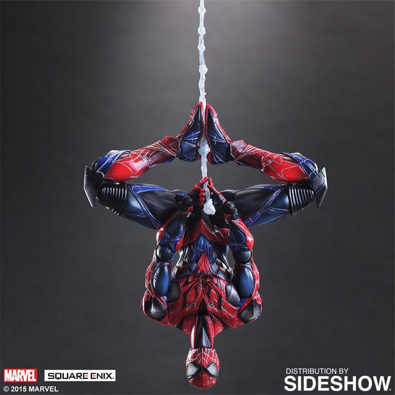 Spider Man Variant Square Enix Figure Hanging Upside Down Geekalerts