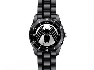Spider-Man Venom Logo Black Bracelet Watch