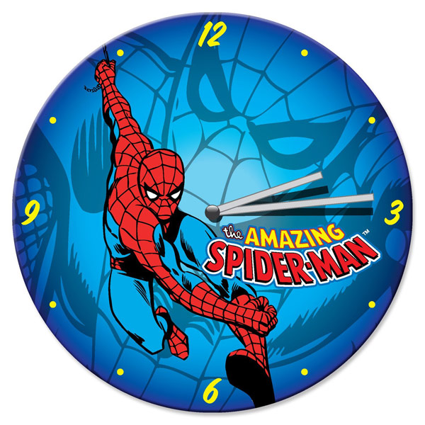 Spider-Man-Wood-Wall-Clock