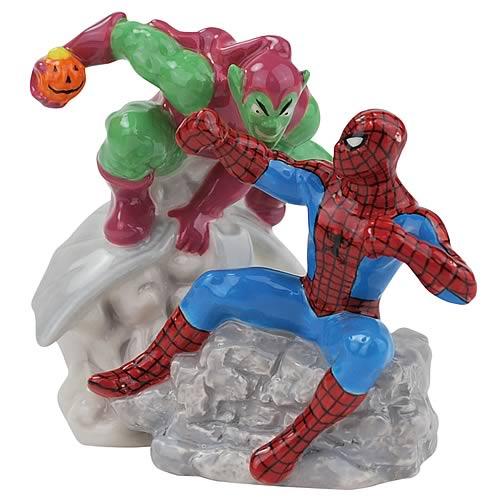 Spider-Man vs. Green Goblin Salt and Pepper Shakers