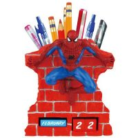 SpiderMan Calendar and Pencil Holder