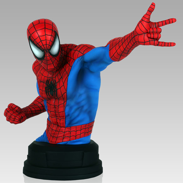 SpiderMan Red and Blue Mini Bust