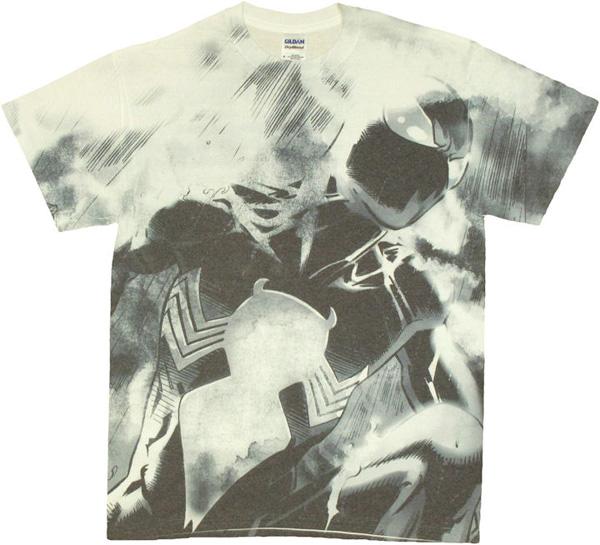 Spiderman Black Suit Dye Sub T-Shirt