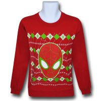 Spiderman Face Red Holiday Sweater Sweatshirt
