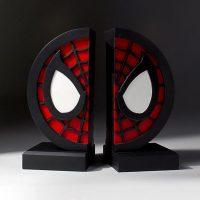 Spiderman Logo Bookends Statue