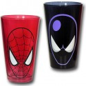 Spiderman Red and Black Pint Glasses
