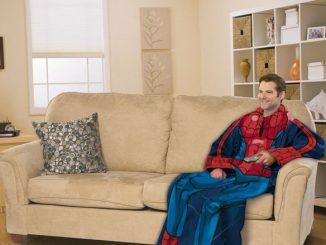 Spiderman Throw Blanket With Sleeves