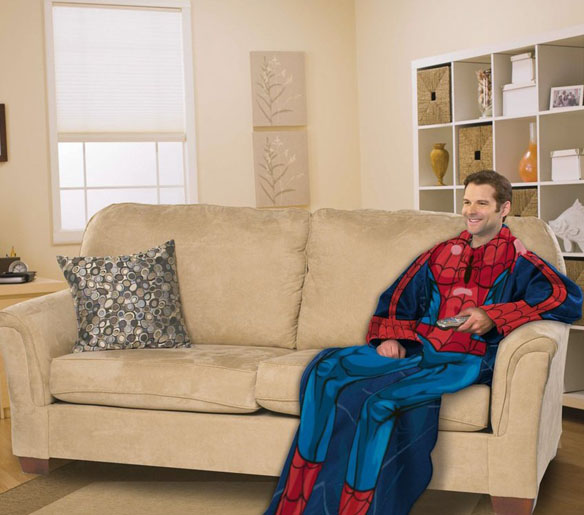 What Is A Throw Blanket Enchanting SpiderMan Snuggie Blanket With Sleeves