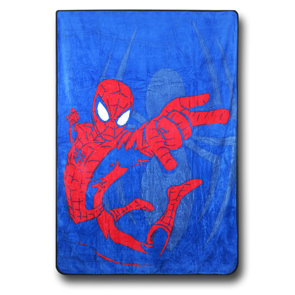 Spiderman Web Shot Fleece Blanket