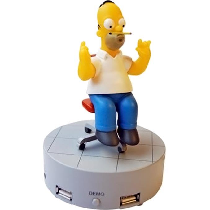 Spinning Homer Simpson USB Hub