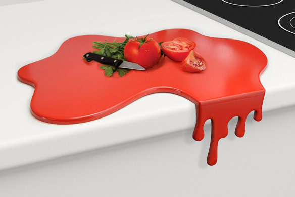 Splash Red Chopping Board