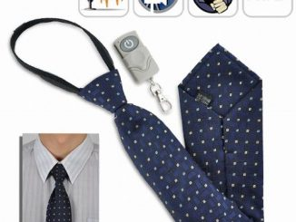 Spy Camera Tie with Wireless Remote