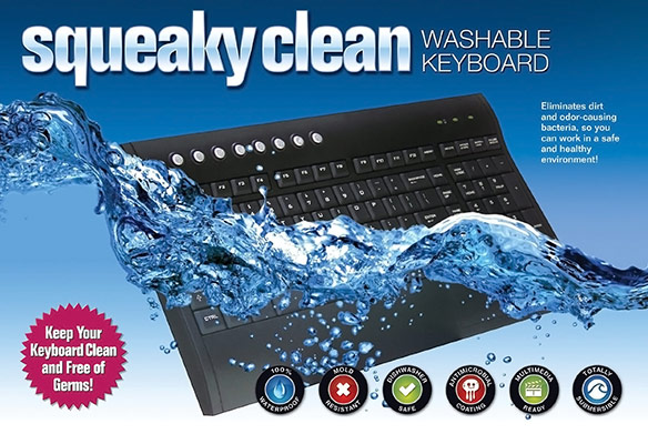 Squeaky Clean Washable Wireless Keyboard