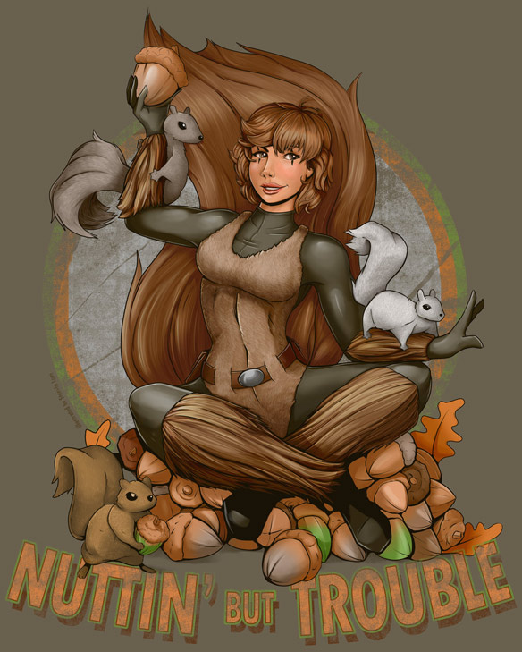 Squirrel Girl Nuttin But Trouble Tee
