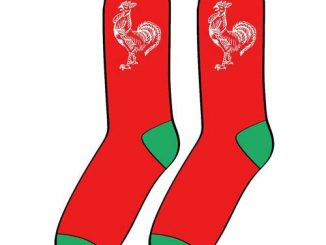 Sriracha Rooster Logo Red Socks