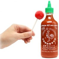 Sriracha Rooster Sauce Lollypops
