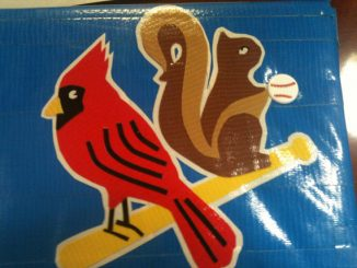 St Louis Cardinals with Rally Squirrel Duct Tape Clutch