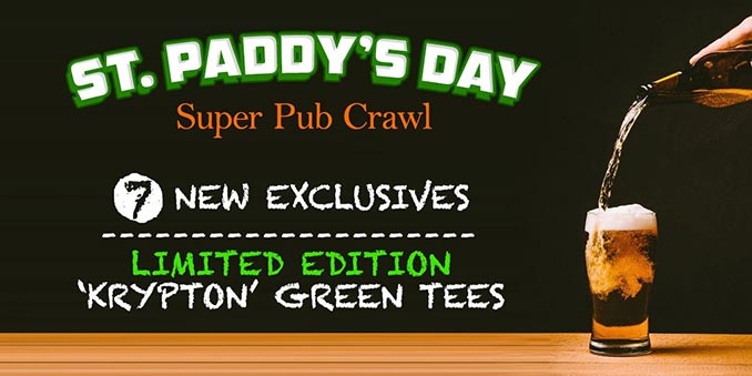 St. Patrick's Day Super Hero T-Shirts