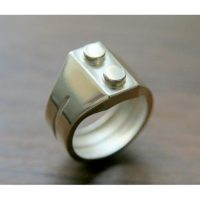 Stainless Steel Brick Ring without Bricks