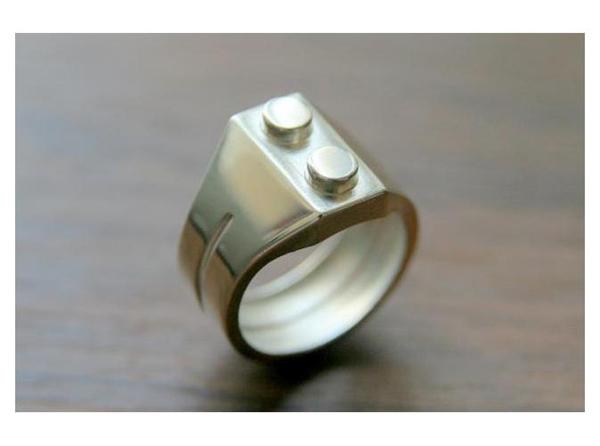Stainless Steel Bricks : Stainless steel brick ring