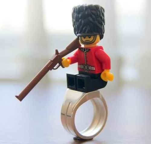 Stainless Steel LEGO Brick Ring