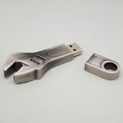 Stainless Steel Wrench Flash Drive