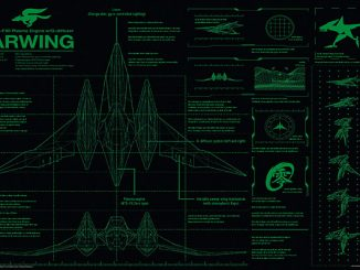 Star Fox Arwing Blueprint Poster