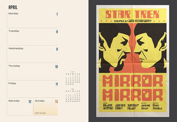Star Trek 16 Month Engagement Calendar