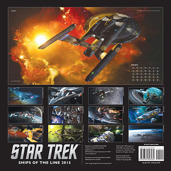 Star Trek 2015 Wall Calendar