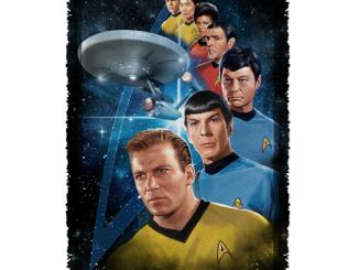 Star Trek Among the Stars Woven Tapestry Throw Blanket