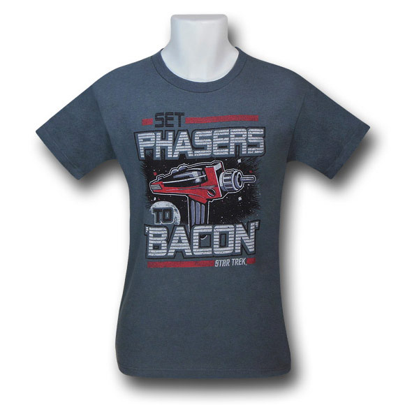Star Trek Bacon Phasers 30 Single TShirt