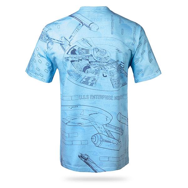 Star Trek Blue Print T-Shirt Back