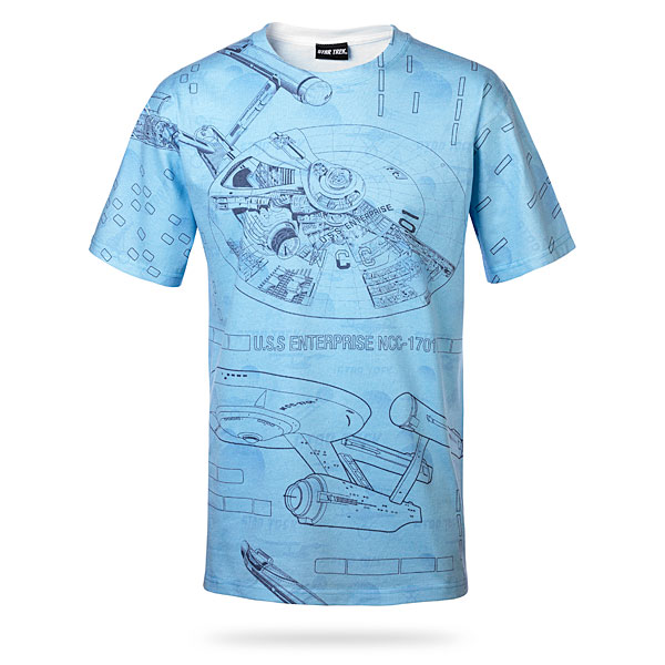 Star Trek Blue Print T-Shirt