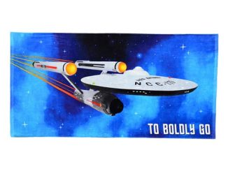 Star Trek Boldly Go Beach Towel