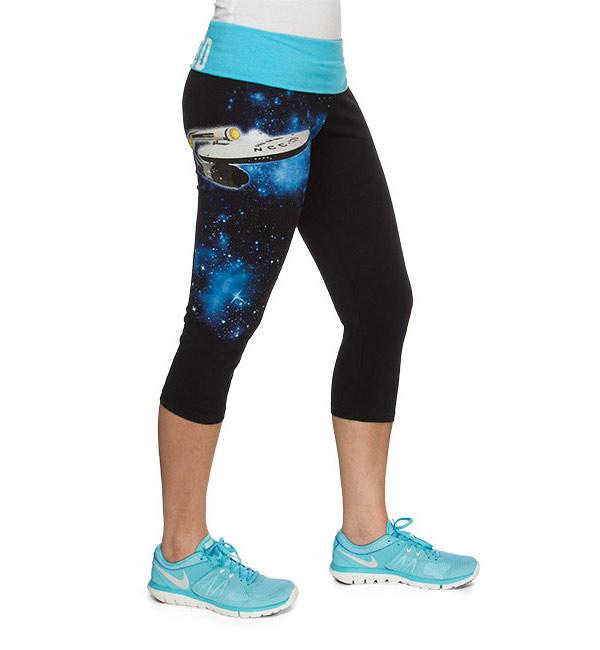 Star Trek Boldly Go Capri Yoga Pants