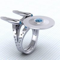 Star Trek Boldly Going Somewhere Ring