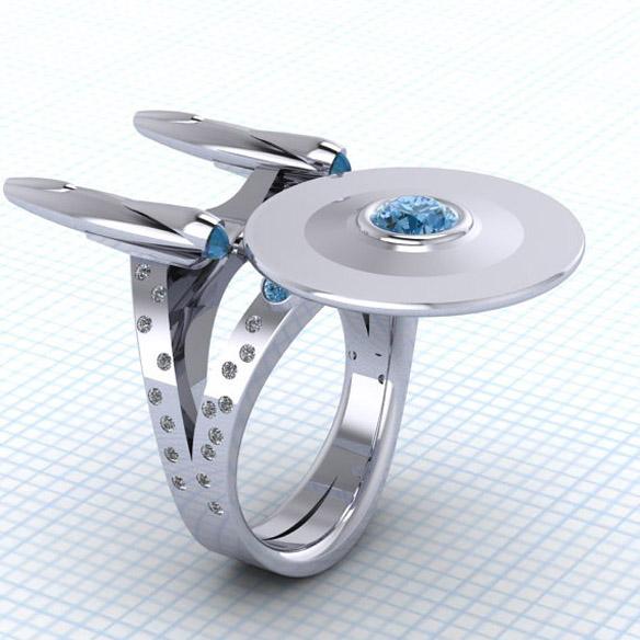 Star Trek Boldly Going Somewhere Ring