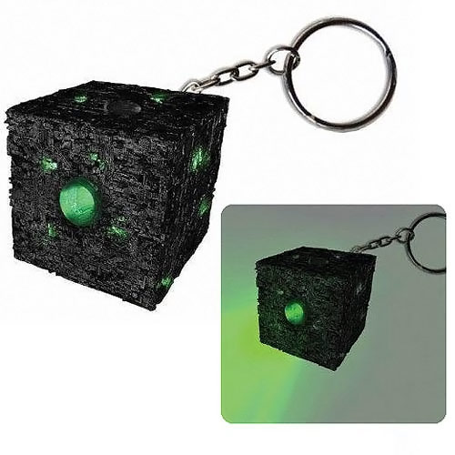 Star Trek Borg Cube Light Up Keychain