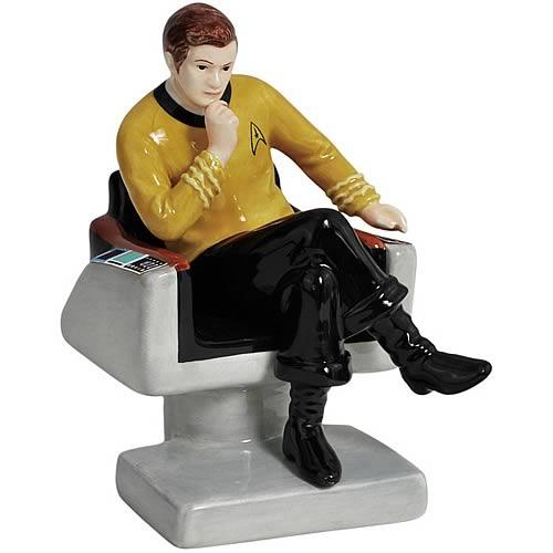 Star Trek Captain Kirk on Chair Salt and Pepper Shakers