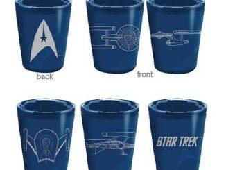 Star Trek Ceramic Shot Glass 4-Pack