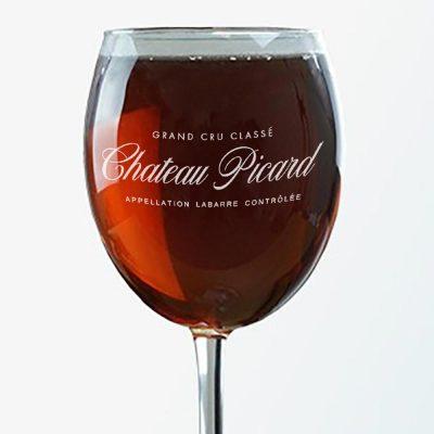 Star Trek Chateau Picard Logo Wine Glass