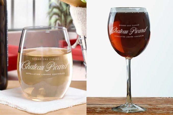 Star Trek Chateau Picard Logo Wine Glasses